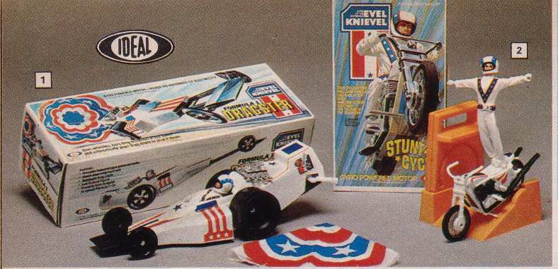 Evel Knievel Stunt Cycle & Dragster