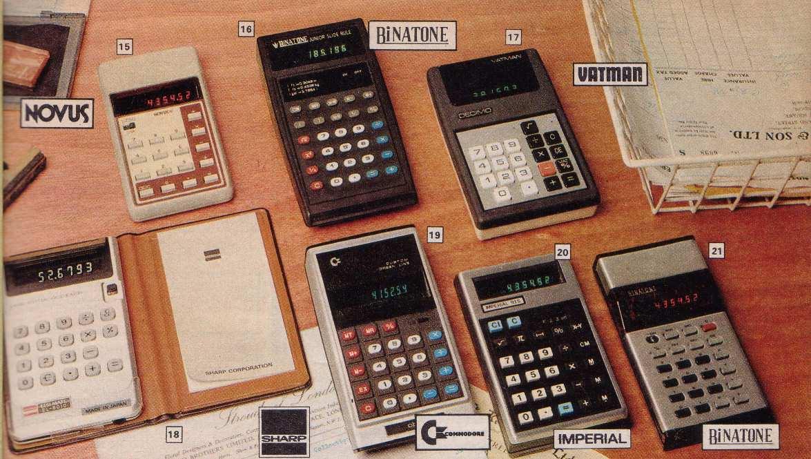 70s calculators