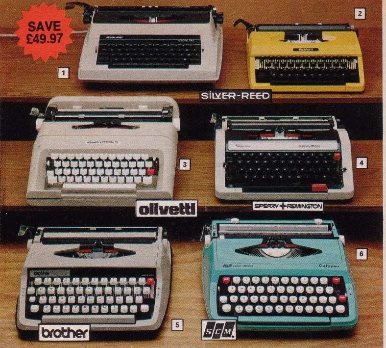 70s Typewriters