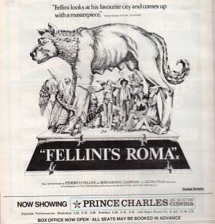 Fellini's Roma advert 1973