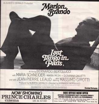Last Tango in Paris advert 1973