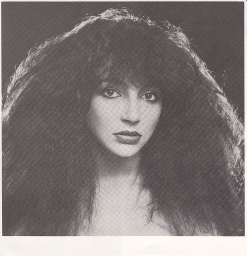 Kate Bush with crazy hair
