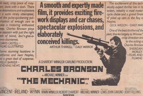 The Mechanic advert 1973