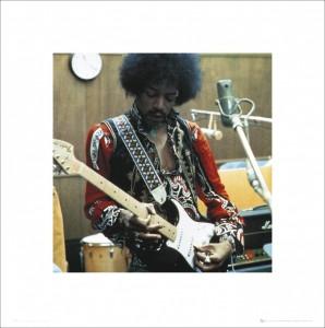 Jimi Hendrix – Studio Art Print (£6.99)