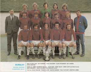 Burnley 2nd Division Champions 1972- 73